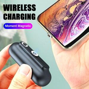 Image 3 - Caricabatterie magnetico Amsengo 2600mAh Mini batteria portatile PowerBank con Clip posteriore per iPhone Samsung Huawei Xiaomi Capsule mobile power