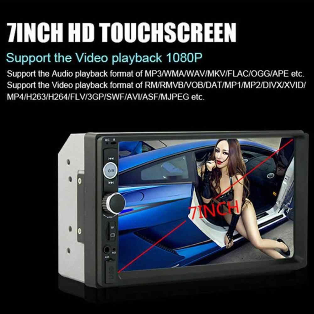 7010B 7 дюймов двойной 2DIN автомобиля MP5 плеер BT Сенсорный экран стерео радио мультимедийный плеер hd Поддержка же Экран