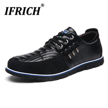 Original Men Flats Casual Shoes Brown Blue Casual Footwear For Youth Plus Size 47 48 Pu Leather Men Shoes Fashion Mens Sneakers