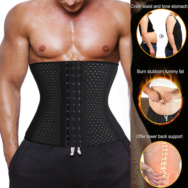 Men Waist Trainer Corset Neoprene Body Shaper Tummy Control Belt Sauna Slimming Strap Fitness Sweat Shapewear for Fat Burner