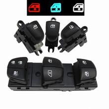 1 Set/4PCS Red / White / Ice Blue Light For Nissan Qashqai/Altima/Sylphy/Tiida/X Trail Power Window Switch/Single Window switch