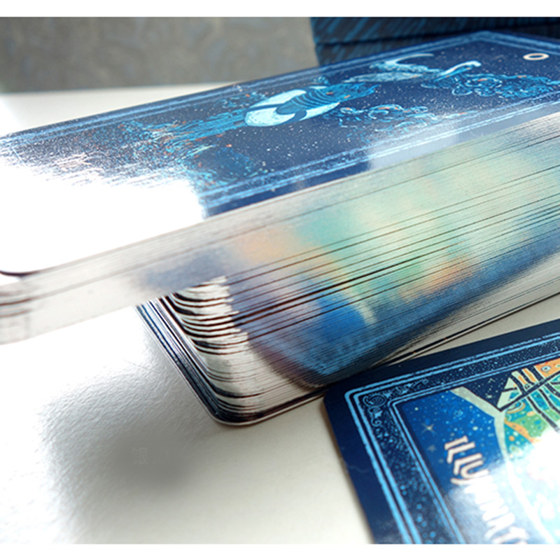 Full English Edition  Silver Tarot Cards Board Game Cards Game Blue Eye Tarot Board Game For Family/Friends