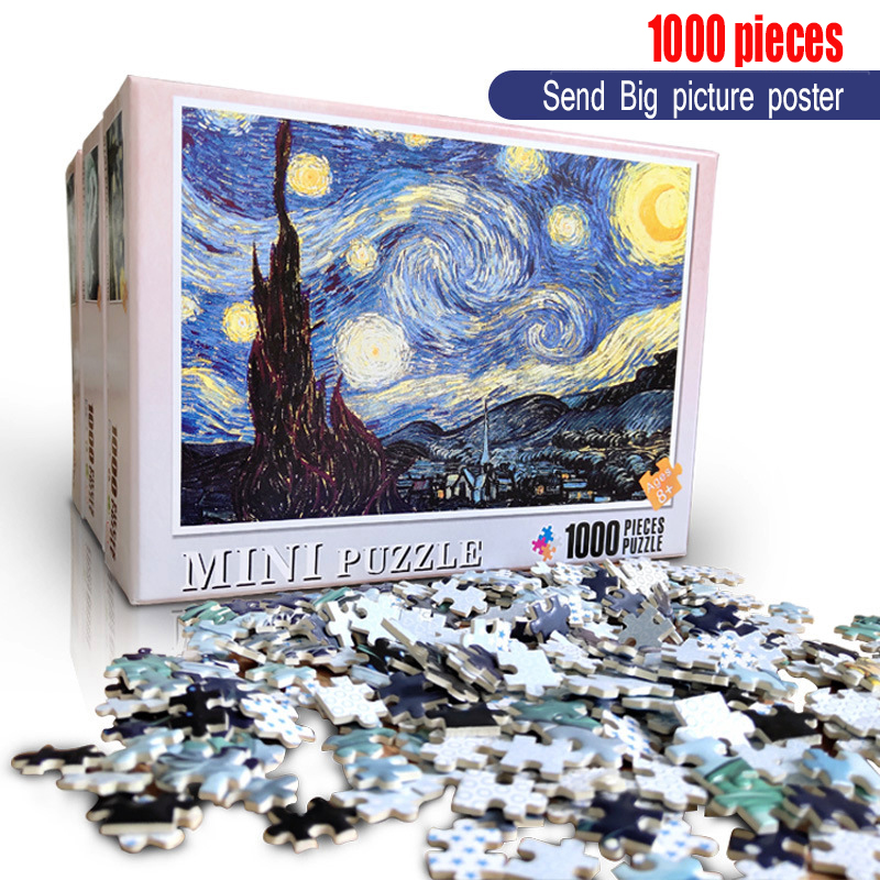 Puzzle 1000 Pieces Diamond Famous Painting World Oil Painting Kids DIY Jigsaw Puzzles Creativity Imagine Wooden Toys For Adults