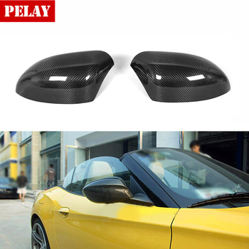 Carbon Fiber Car Side Rearview Mirror Covers Add On Style Caps for BMW Z4 E89 20i 28i 35i 30i 2009 - 2016 image