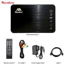 מיני מלא מדיה HD מולטימדיה נגן הפעלה אוטומטית 1080P USB חיצוני HDD Media Player עם HD כבל VGA AV עבור SD U דיסק MKV RMVB