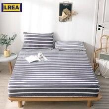 LREA 1 шт. полосатая простыня полиэстер материал Плакированные простыни мягкие для постельных принадлежностей 9,8 дюймов Высота домашний текстиль