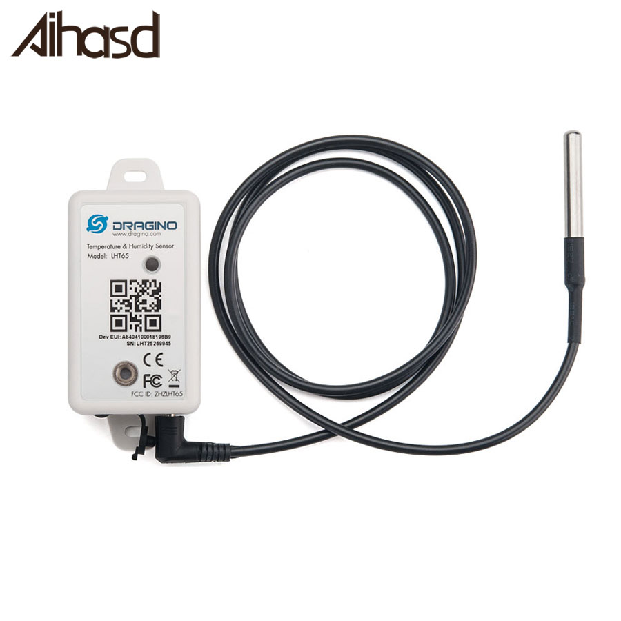 Aihasd LHT65 LoRaWAN DS18B20 Temperature & Humidity Sensor With Built-in 2400mAh Non-chargeable Battery