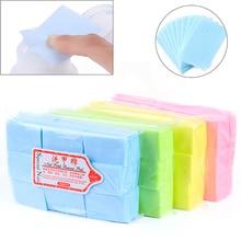 600Pcs Lint-Free Nail Wipes Napkin For Manicure Nail Gel Polish Removal Wraps Cotton Nail Polish Remover Nail Art Tools