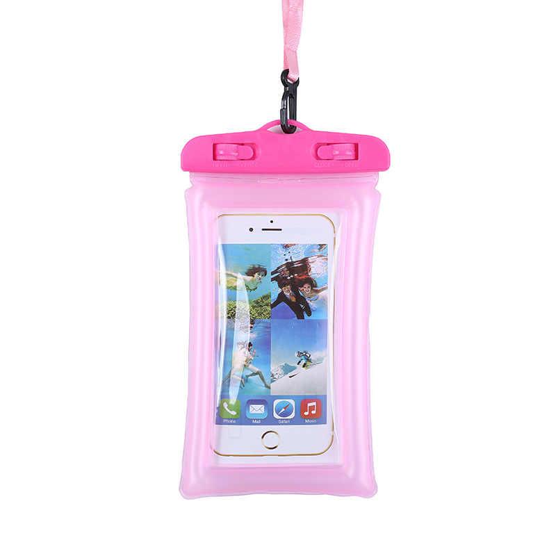 1 قطعة غطاء هاتف مضاد للماء للماء الخلية المنشورية أو الجرابية الهاتف حقيبة جافة ل فون X/الهواتف الذكية تصل إلى 6 بوصة الهاتف اكسسوارات