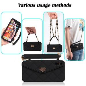 Image 4 - Droshipping vip bolsa de ombro bolsa carteira silicone macio caso do telefone para o iphone 12 mini 11 pro max 6s 7 8 plus xs max xr x 10