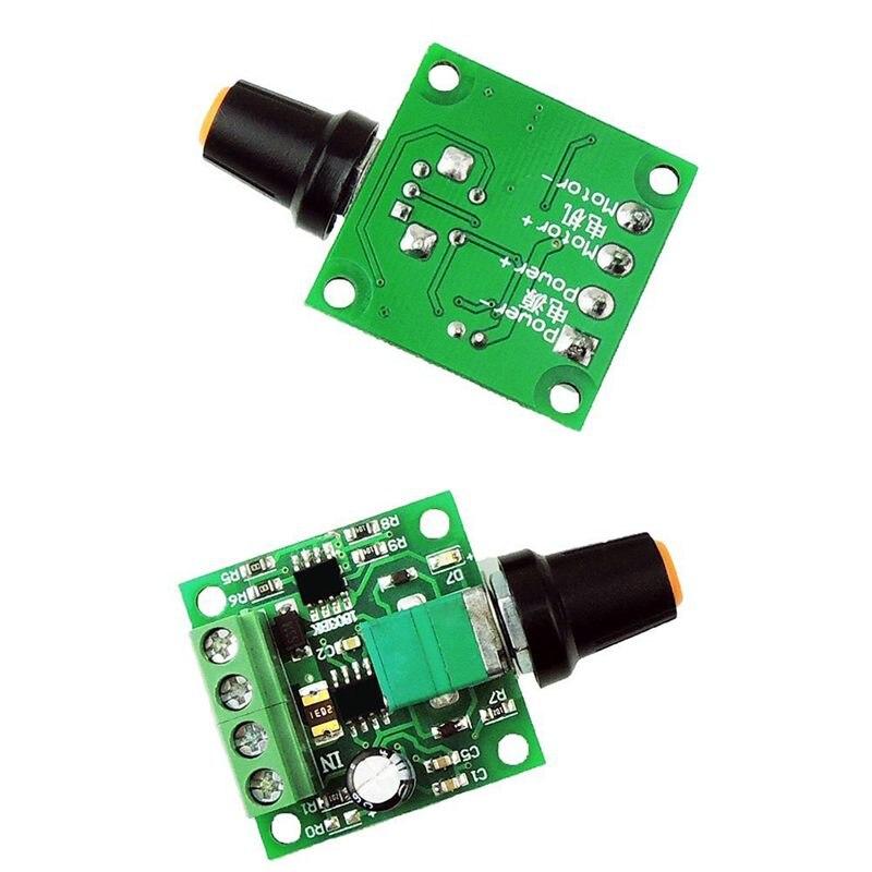 DC 1.8V-15V Mini PWM Motor Speed Controller Low Voltage 2A 30W Motor Speed Controller PWM Adjustable Drive Module 3V 6V 12V