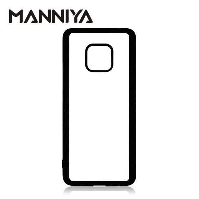 MANNIYA pour Huawei Honor 30 20 boîtier en caoutchouc Sublimation blanc avec Inserts en aluminium 10 pièces/lot