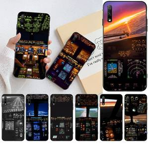 Чехол для телефона HPCHCJHM cool aircraft airplane cockpit для Huawei Honor 20 10 9 8 8x 8c 9x 7c 7a Lite view pro