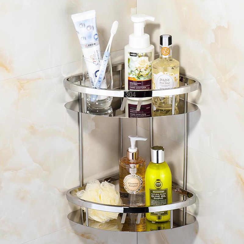 Hoge Kwaliteit 2/3Tier Corner Opslag Houder Planken Badkamer Shampoo Douche Keuken Opslag Rack Organizer Bad Accessoire Sets