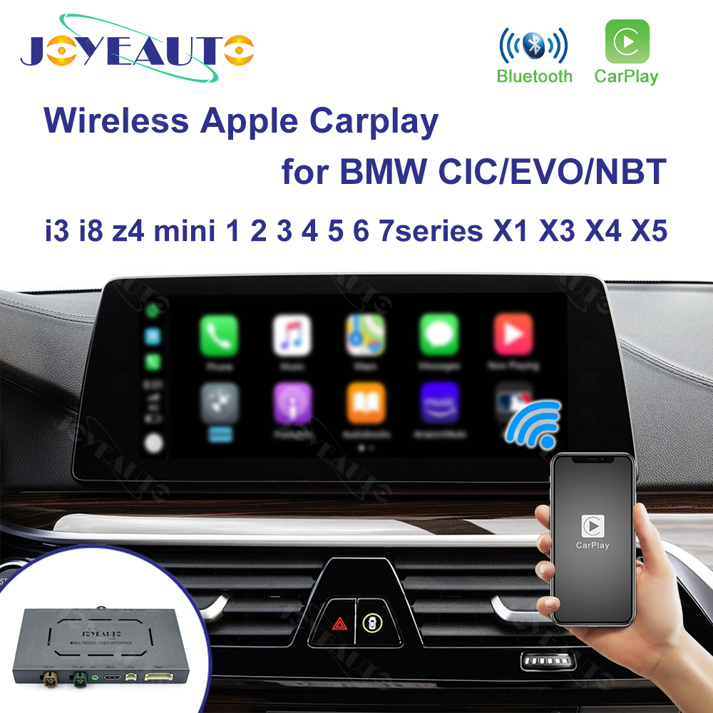 Joyeauto Wireless Apple Carplay for BMW CIC NBT EVO 1 2 3 4 5 7 Series X1 X3 X4 X5 X6 MINI i3 i8 z4 Android Auto Mirror Car play title=
