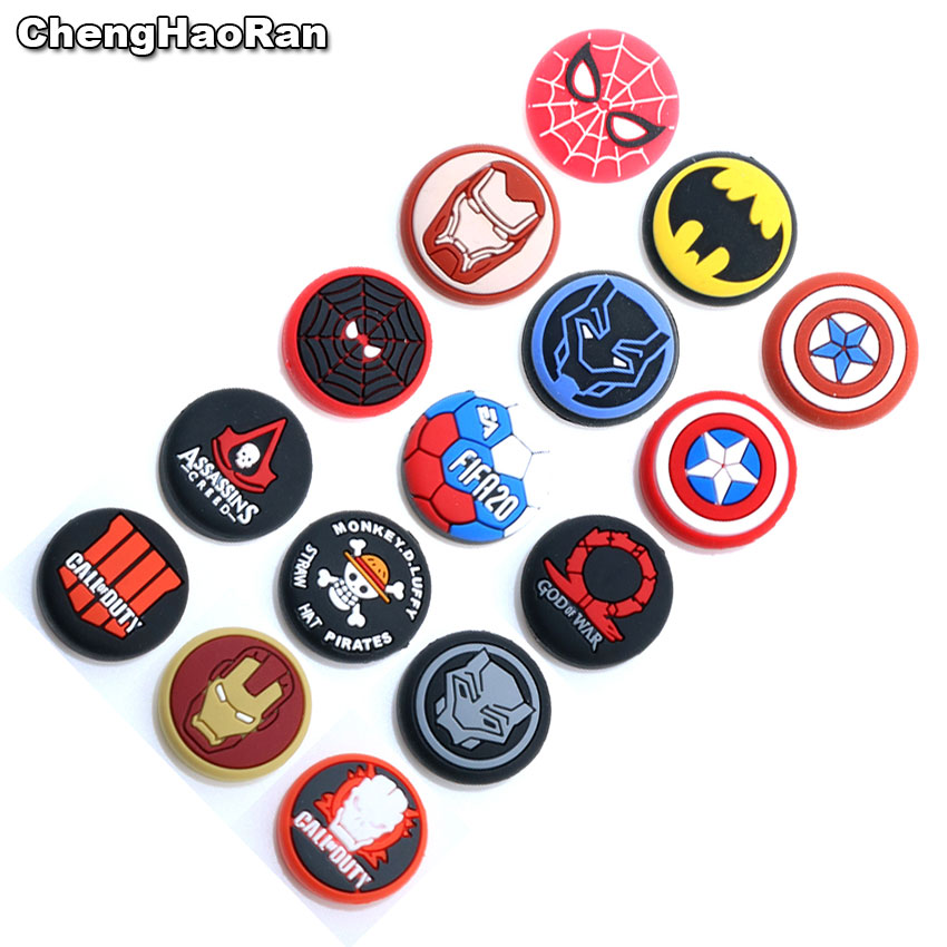 ChengHaoRan 1pc Thumb Stick Grip Cap For Sony PS3 PS4 Slim Xbox One 360 Thumbstick Joystick Cover Case For Switch Pro Controller