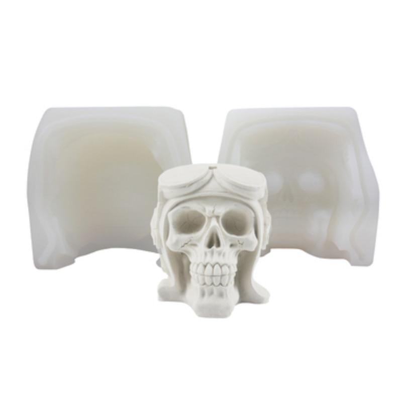 Halloween thème casque crâne moules Fondant gâteau décoration Silicone moules chocolat cuisson outils pour gâteaux Gumpaste Fimo