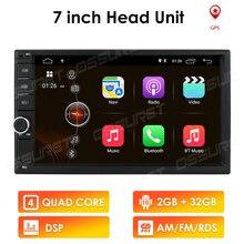Radio Multimedia con GPS para coche, Radio con reproductor, navegador, 2GB + 32GB, Android 10, 7 pulgadas, Universal, 2DIN, para VW, Nissan, Kia