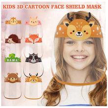 Masque facial lavable pour enfants, protection faciale à la mode pour l'extérieur, pour garçons et filles, avec bande élastique