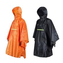 Vrouwen/Mannen Waterdichte Poncho Fiets Regenjas Reflecterende Strip 230T Titafo Camping Regenkleding Kleding Covers