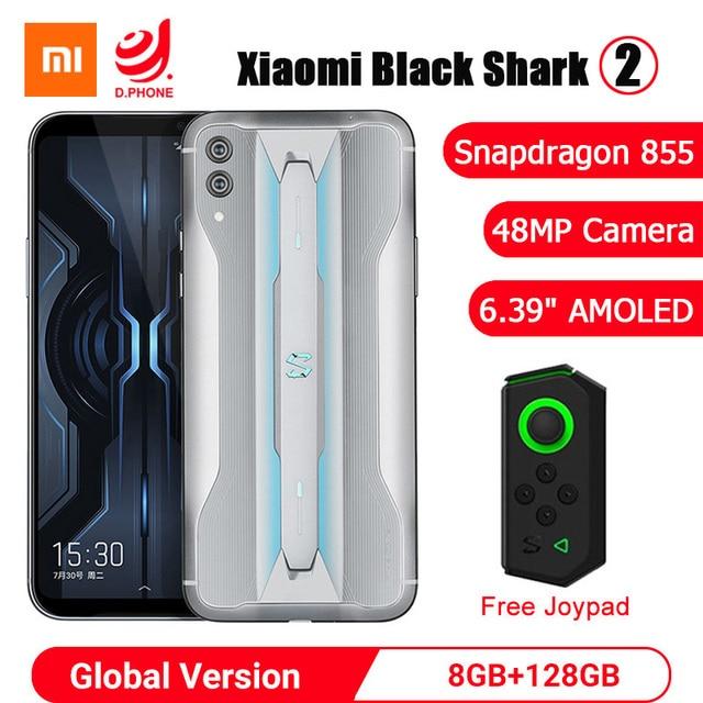 "Xiaomi noir requin 2 8GB 128GB téléphone de jeu Snapdragon 855 Octa Core 6.39 ""AMOLED écran 48MP caméra Blackshark 2 téléphone portable"