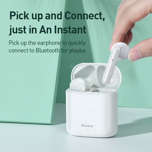 Image 2 - Baseus Bluetooth אוזניות W09 TWS Bluetooth 5.0 אוזניות אלחוטי דיבורית אוזניות סטריאו HD מדבר Auriculares Bluetooth