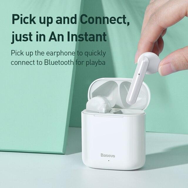 Baseus W09 TWS Bluetooth Earphone Wireless Handsfree Headphones Stereo Buletooth 5.0 Earphone HD Gaming Headset Sport Earphone 1