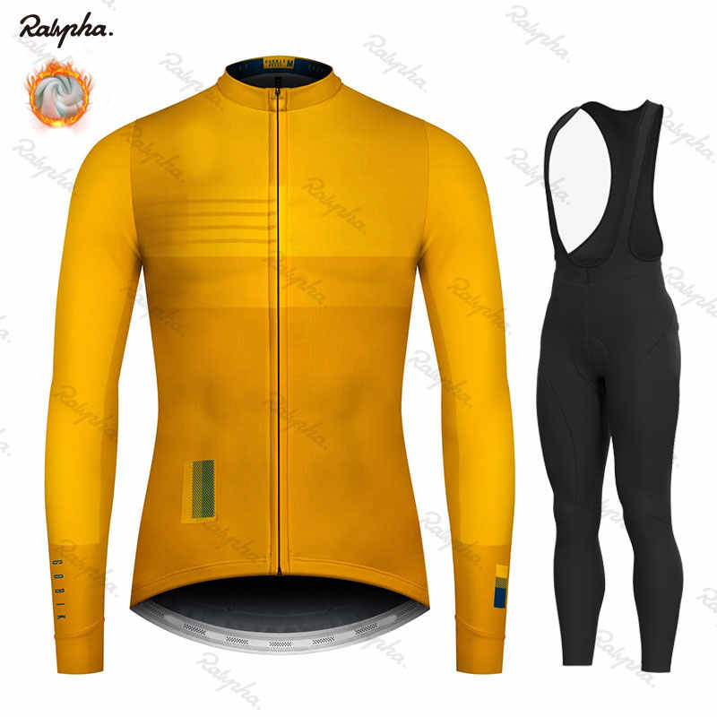 Cycling Jersey 2019 Pro Team Ralvpha Winter Fleece Cycling Clothing MTB Cycling Bib Pants Set Ropa Ciclismo Triathlon set