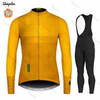 Radfahren Jersey 2019 Pro Team Ralvpha Winter Fleece Radfahren Kleidung MTB Radfahren Bib Hosen Set Ropa Ciclismo Triathlon set