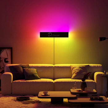 Minimalism RGB LED Wall Lamp Bedroom Bedside Home Decoration Wall Light,Nordic Colorful Living Room Indoor Lighting Fixtures