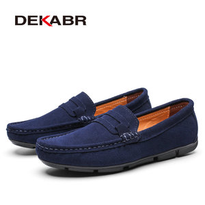 Image 2 - DEKABR Hot sale Brand Men Loafers Mens Casual Shoes Suede Leather Moccasins Breathable Slip on Boat Shoes Chaussures Hommes