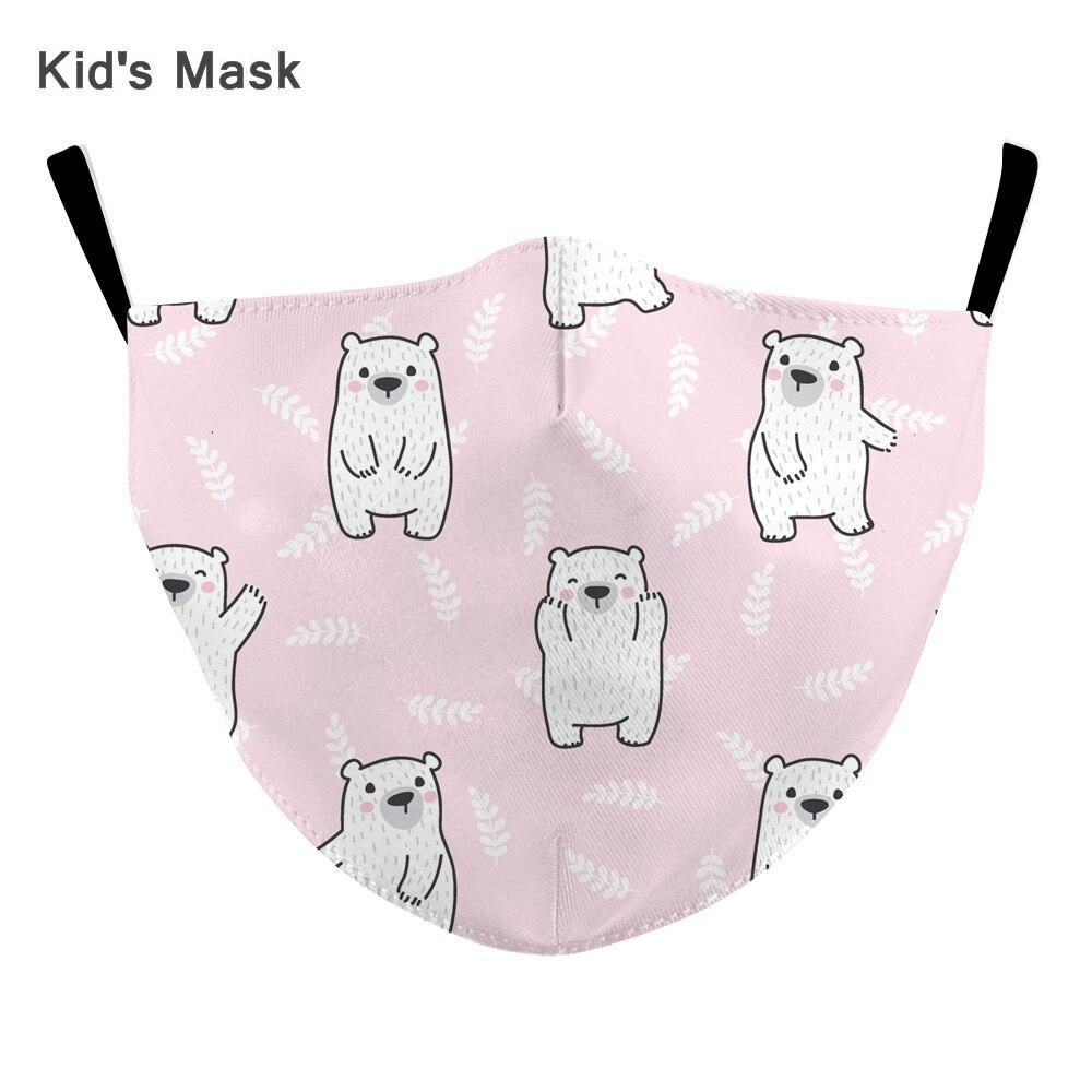 Cute Children Mouth Mask Washable Kids Children Anti Haze Dust Masks Nose Filter Face Mouth Muffle Respirator Mask Mascarilla