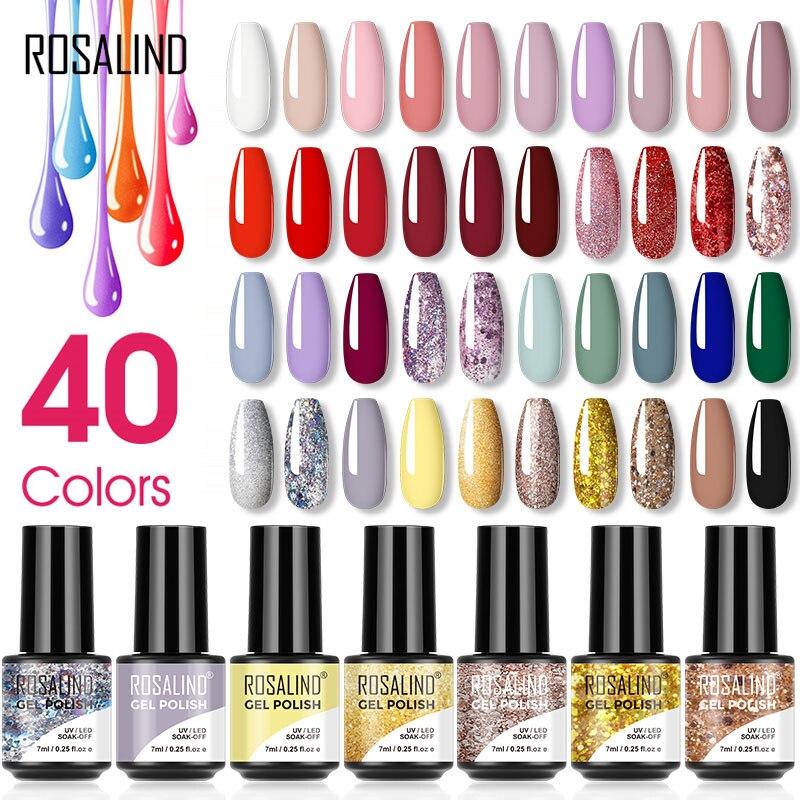 Rosalind gel vernizes polonês brilho cor híbrido 7ml tudo para manicure semi permanente embeber fora gel laca arte do prego design