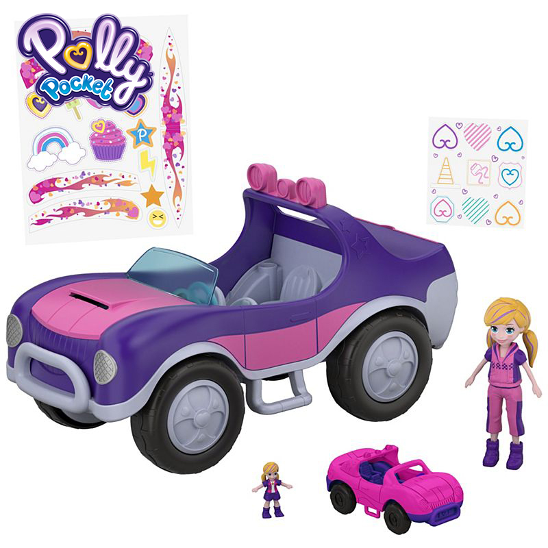 Polly Pocket Funny Doll Mini Cars Toys Secret Utility Vehicle Carry On Pocket Toys FWY26 Doll Accessories For Kid Toys Gift