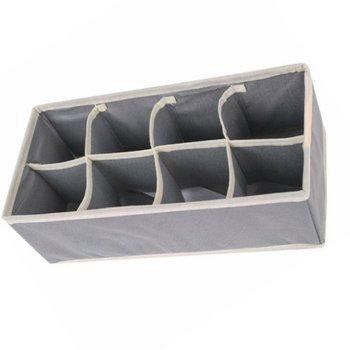 Składane szuflady organizery schowek etui na biustonosz krawaty bielizna skarpetki szalik organizery szuflady szary tanie i dobre opinie OUTAD Włókniny tkaniny 33*16*10