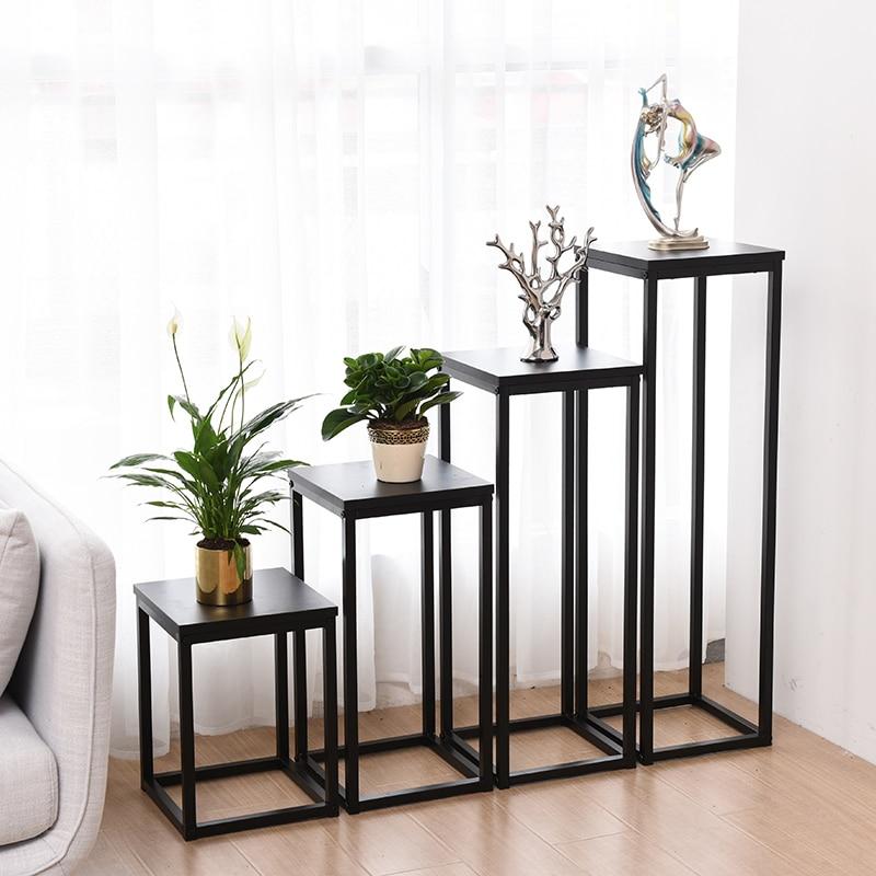 Rack Indoor Bedroom Simplicity Modern Green Luo Flower Airs Iron Art Single Short Monolayer Multi-storey  Rack