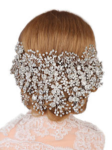 Headbands Bridal-Hair-Accessories Crowns TOPQUEEN Wedding-Tiara Rhinestone Crystal HP240