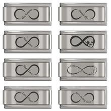 Charm Jewelry Bracelet Sweet Italian Hapiship Infinite-Love Stainless-Steel Diy-Making