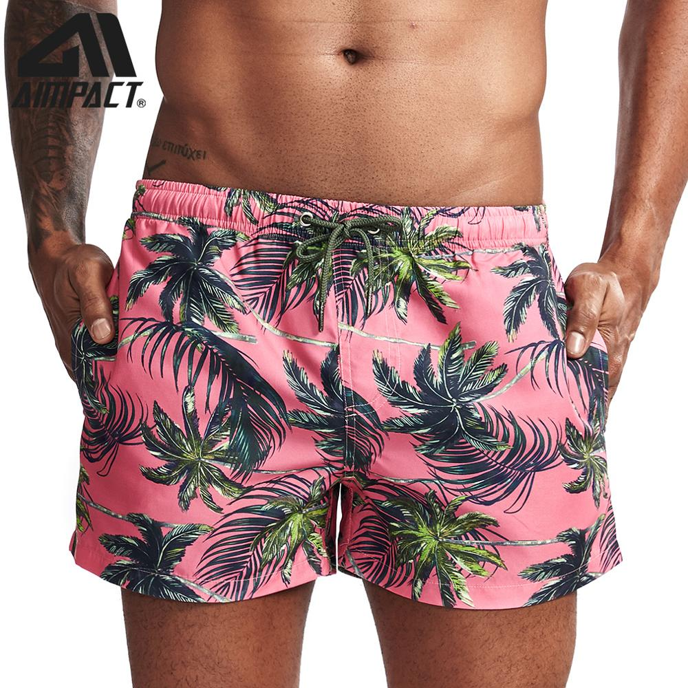 2019 New  Fashion Men's Board Shorts Fast Dry Male Swim Trunks Tropical Print Casual Sport Surf Beachwear Hybird Shorts AM2214