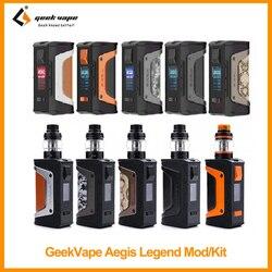 Распродажа оригинальный GeekVape Aegis Legend Mod/комплект с Аэро сеткой емкостью 4 мл 200 Вт Мощность VS aegis Boost Mesh coil E-Cig