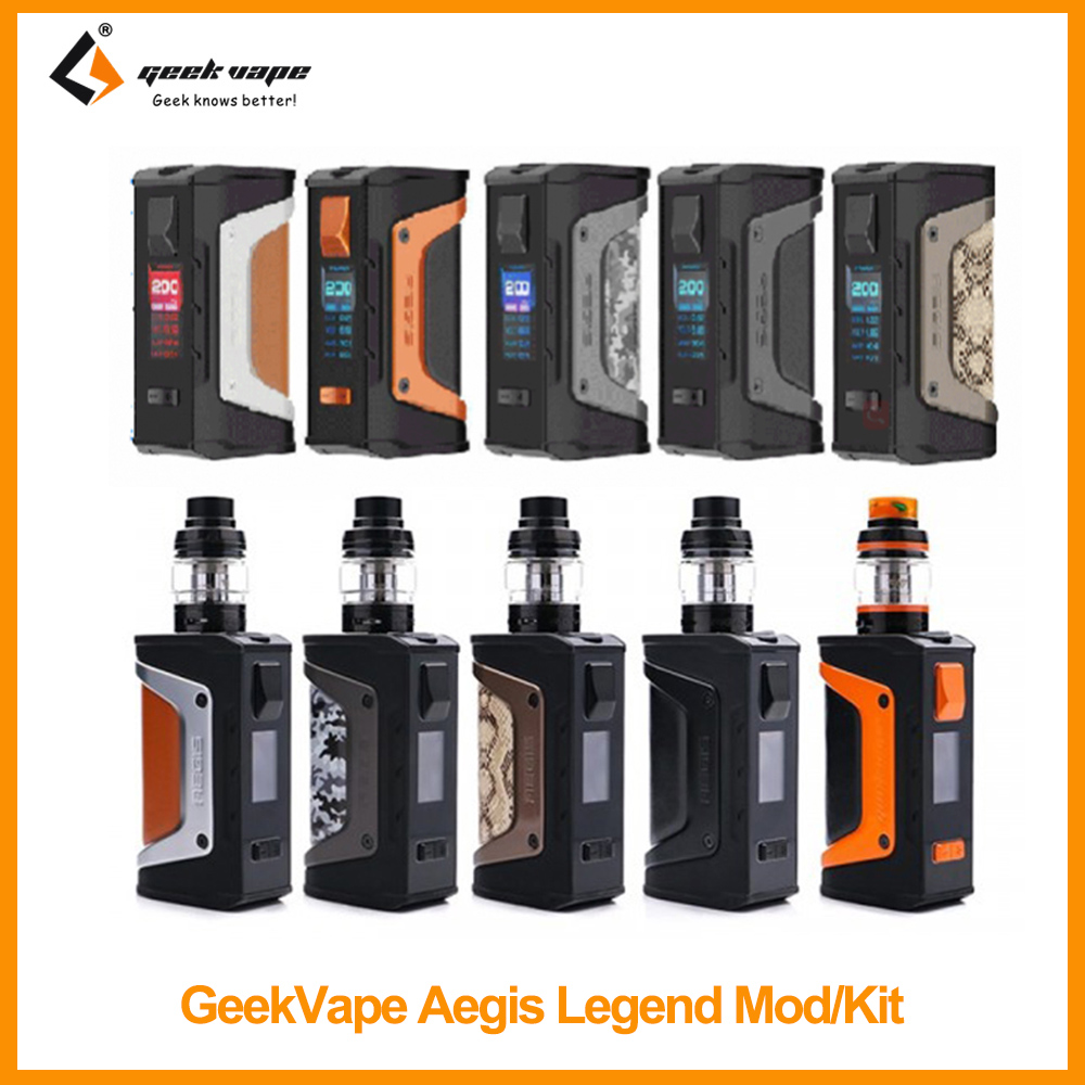 Clearance Original GeekVape Aegis Legend Mod/Kit With Aero Mesh Tank 4ml Capacity 200W Wattage VS Aegis Boost Mesh Coil E-Cig