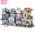 Новые лоз мини-блоки с видом на город  кофейня  розничный магазин  архитектурные 3D модели и строительные викторины  Рождественская игрушка д...