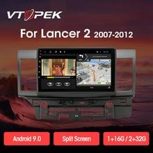 Vtopek 2din  2+32G Android 9.0 T3L PLUS Car Multimedia Player  for Mitsubishi Lancer 2007-2012 Navigation GPS Auto Radio 2 Din
