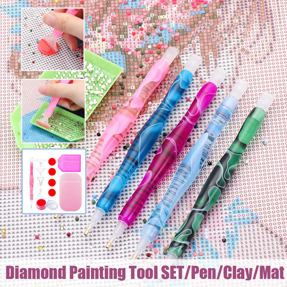 5D Resin Diamond Painting Pen Resin Point Drill Pen Cross Stitch Embroidery