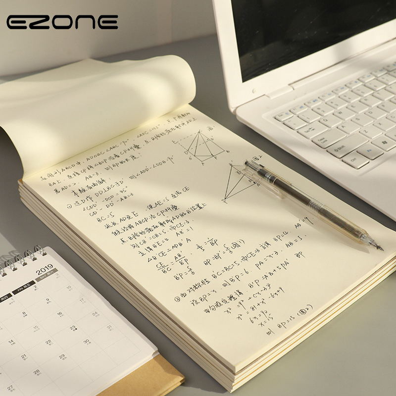 EZONE Blank Page Notebook Sketch Book White Inner Page Notebook Draft Paper Thicken Notebook School Office Stationery Supply