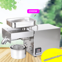 2000W Stainless Steel Electric Cold Oil Presser Household Home Use Mini Oil Press Machine Peanut/Olive/Rapeseed/Sesame Oil Maker