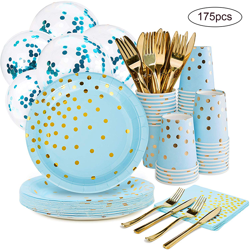 175Pcs Disposable Cake Tray Cupcake Liner Dish Kids Birthday Party Muffin Paper Cup