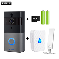 KERUI Tuya Smart Life Wireless WiFi Video Intercom Doorbell 2MP 1080P Phone Call Door Bell Home Security Night Vision Camera