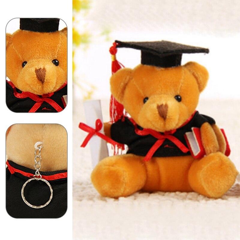 9cm Lovely Dr. Bear Plush Toy For Children Stuffed Soft Kawaii Teddy Bear Animal Dolls Graduation Gifts For Kids Girls Boy