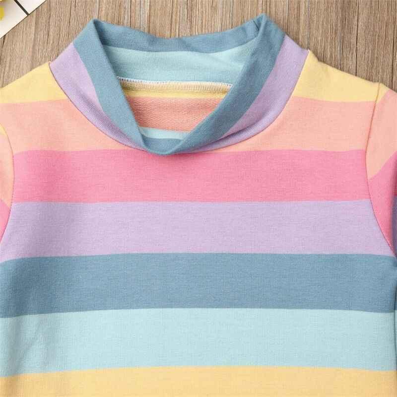 Emmababy 2PCS เด็กวัยหัดเดินเด็กทารกเด็กสาวเสื้อยืด Tops + ชุดกระโปรงชุดเสื้อผ้า